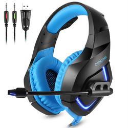 ONIKUMA Stereo Gaming Headphone for PS4 PC Xbox One LED Headset Gamer Noise Cancelling Earphones with Mic for Computer