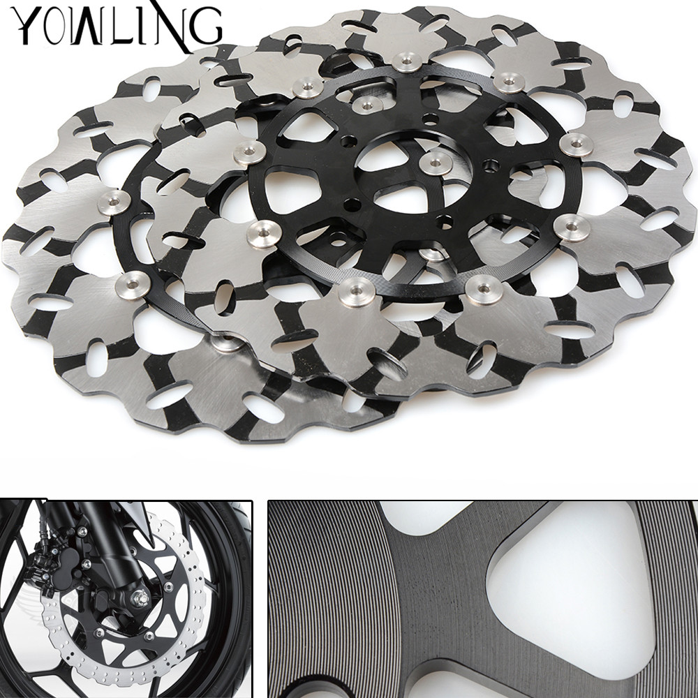 For Suzuki GSXR600 GSXR750 2006 2007 GSXR 600 K6 K7 GSXR 750 K6 K7 GSXR1000 2000-2003 Motorcycle Front Floating Brake Disc Rotor motoo f 14 s 248 motorcycle brake clutch levers for suzuki gsxr600 1997 2003 gsxr750 1996 2003 gsxr1000 2001 2004 tl1000s