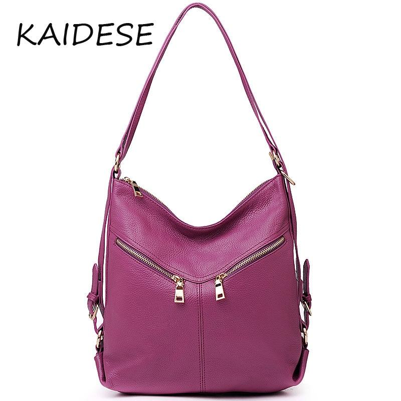 KAIDESE 2017 new style handbag, multifunctional leather shoulder bag with large capacity, single shoulder and shoulder bag
