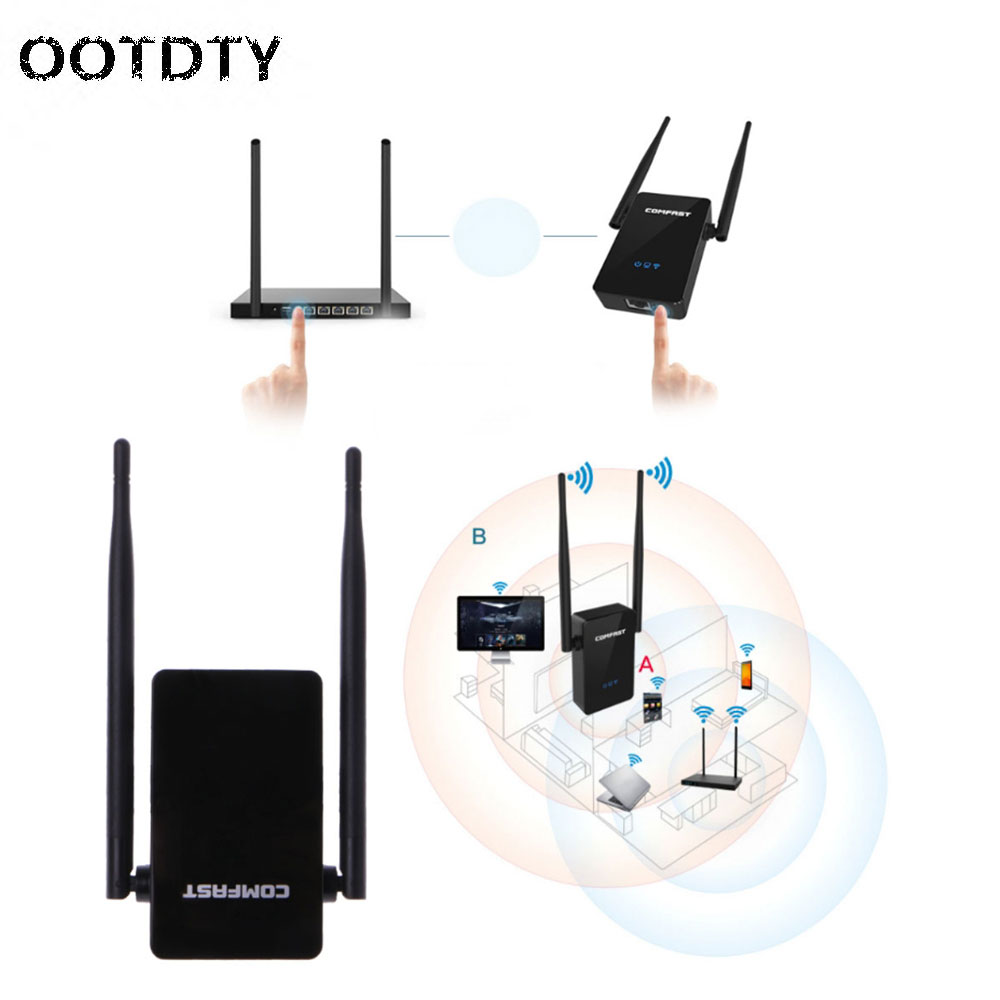 Antenna 300Mbps Wireless WiFi Range Router Extender Network Signal Amplifier