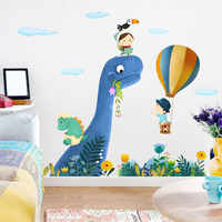 Dinosaur Kids Rooms Home Decor Wall Sticker Cartoon Animal Painting for Baby Room Nursery Decals Posters and Prints Wall Picture