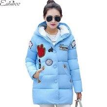 1PC Patch Design Winter Jacket Women Cotton Parkas For Women Winter Coat Womens Winter Jackets Manteau Femme ZZ3605