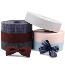 Striped Tape Fabric Ribbon DIY Craft Bow Tie Material Apparel Sewing Gift Wrapping Christmas Wedding Party Ribbons 10 Meters