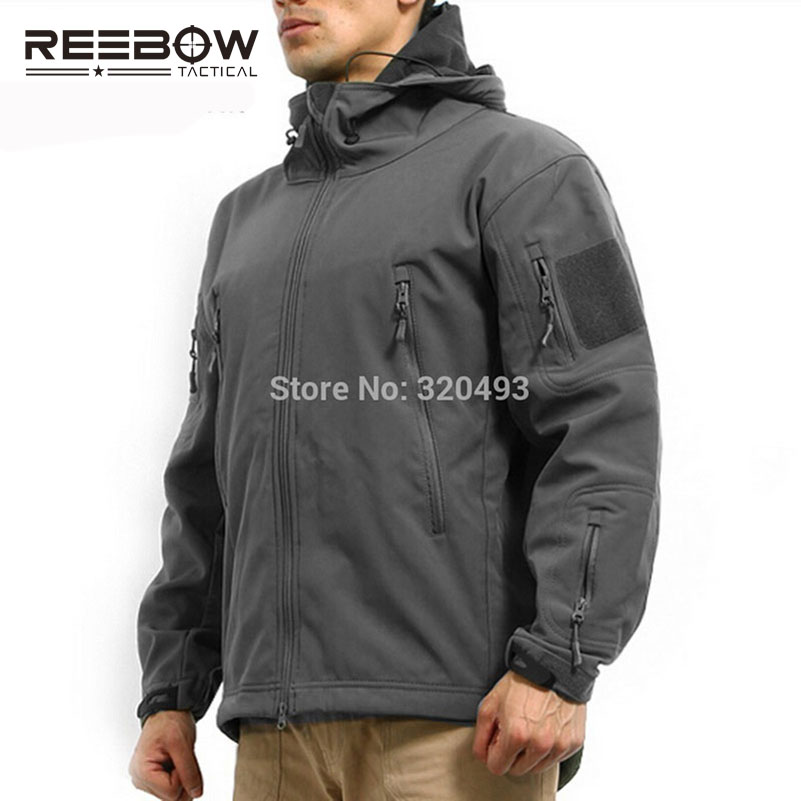 REEBOW TACTICAL Military Men Outdoor Winter Jacket Softshell Waterproof Camouflage Thermal Coat Camping Sports Outwears lurker shark skin soft shell v4 military tactical jacket men waterproof windproof warm coat camouflage hooded camo army clothing