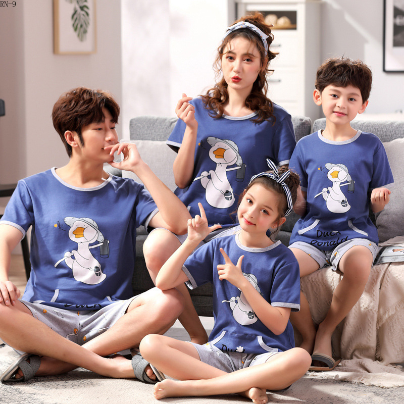 Summer 2019 New Children's Pajamas Set Cartoon Family Matching Outfits Mother And Daughter Sleepwear Dad Son Pyjama Suit Lounge