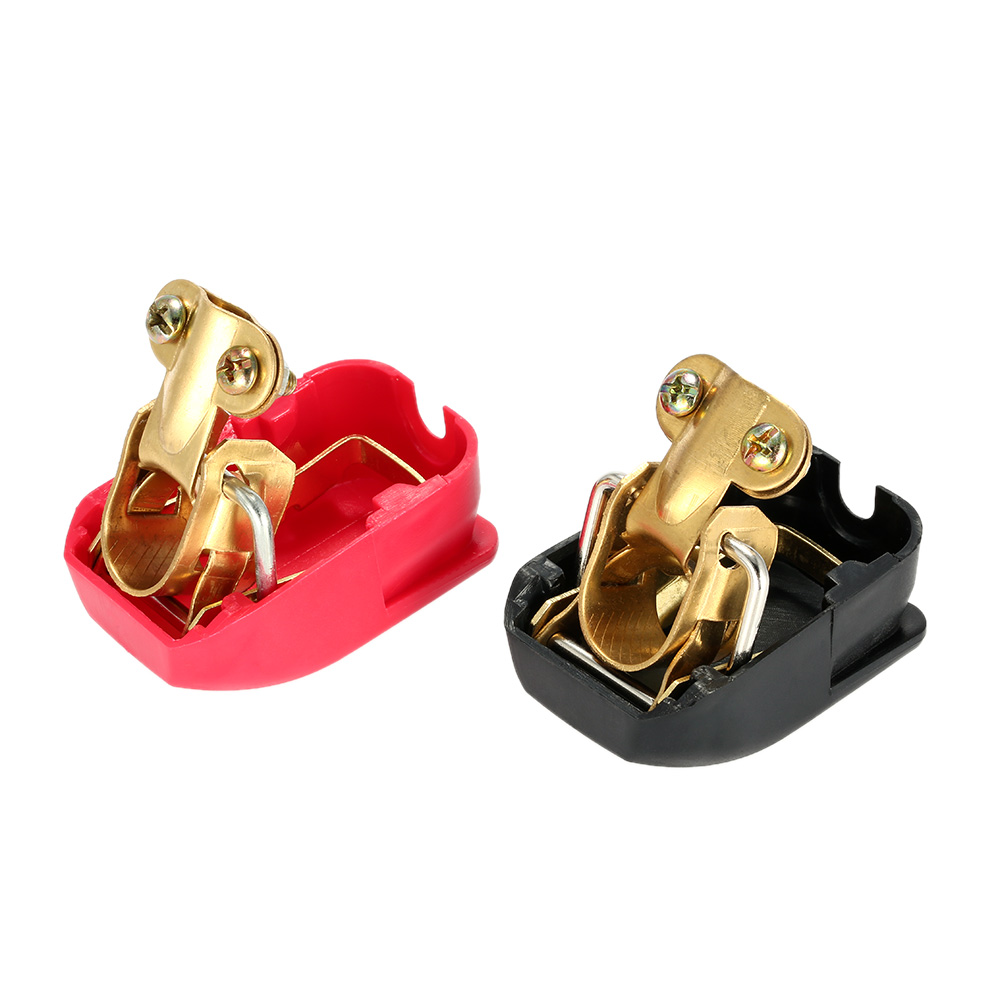 Auto Battery Terminal Connector Battery Pair of 12V Quick Power Release Car Battery Connectors Clamps for Motocucle Boat