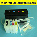 1 комплект Высококачественная пустая HP10 11 СНПЧ Непрерывная система подачи чернил для HP Officejet 9110 9120 9130 K850 принтер для HP 10 11