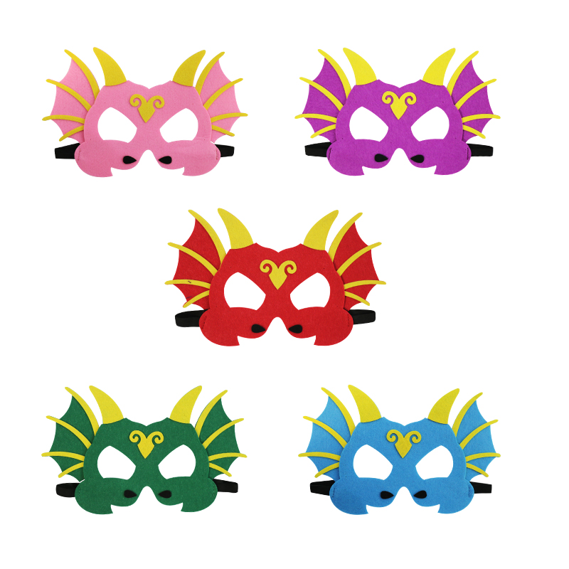 SPECIAL Dinosaur Mask Kids Party Costume Masque Shower Baby Gift Dragon Themed Toys For kids Wedding Blue Dinosaur Costume