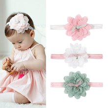 Childrens Lace Headband European And American Style Colorful Flowers Cute Sweet Hairdressing Three Colors Optional