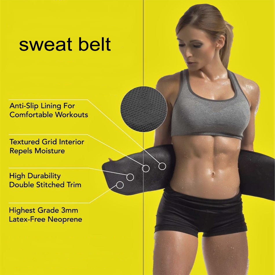 Slimming Gym Shapers Waist Trimmer Sweat Wrap Tummy Weight Loss Fat Burner Belt