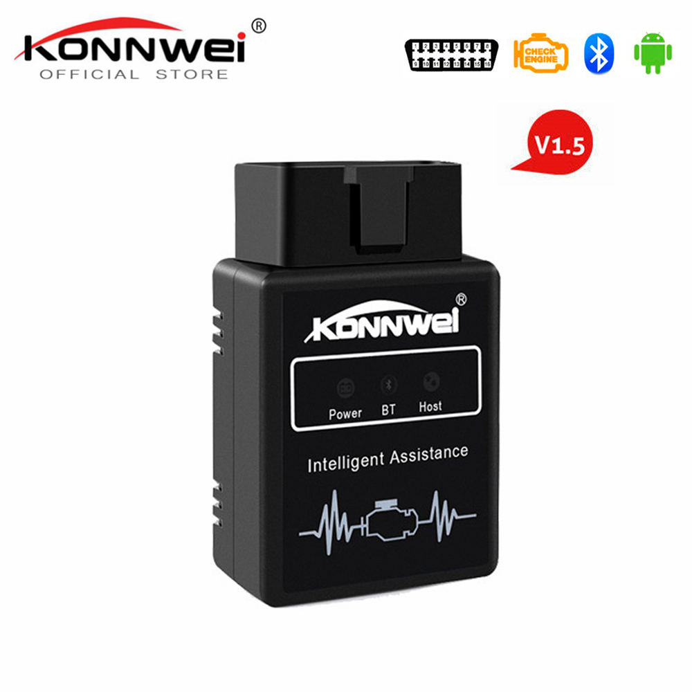 KONNWEI KW912 ELM327 Bluetooth Pic18f25k80 Obd2 v1.5 Scanner Car Diagnostic Tool Code Reader Scan OBD2 Automotive Car Obd2 Tools