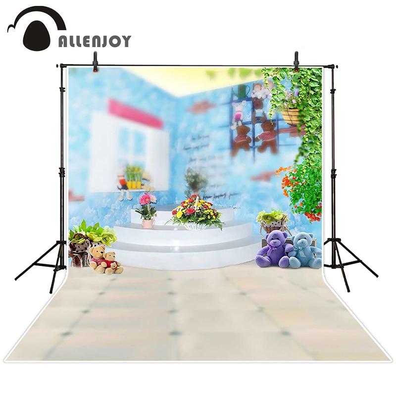 Fundo fotográfico Allenjoy Brinquedos escadas sala flor scenic backdrops  casamento menino novo design 7x5ft 33b5558bbe