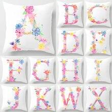 Carta de flores funda de cojín decorativa almohada funda de almohada poliéster 45*45 tirar almohadas para Decoración de casa, almohada 40842