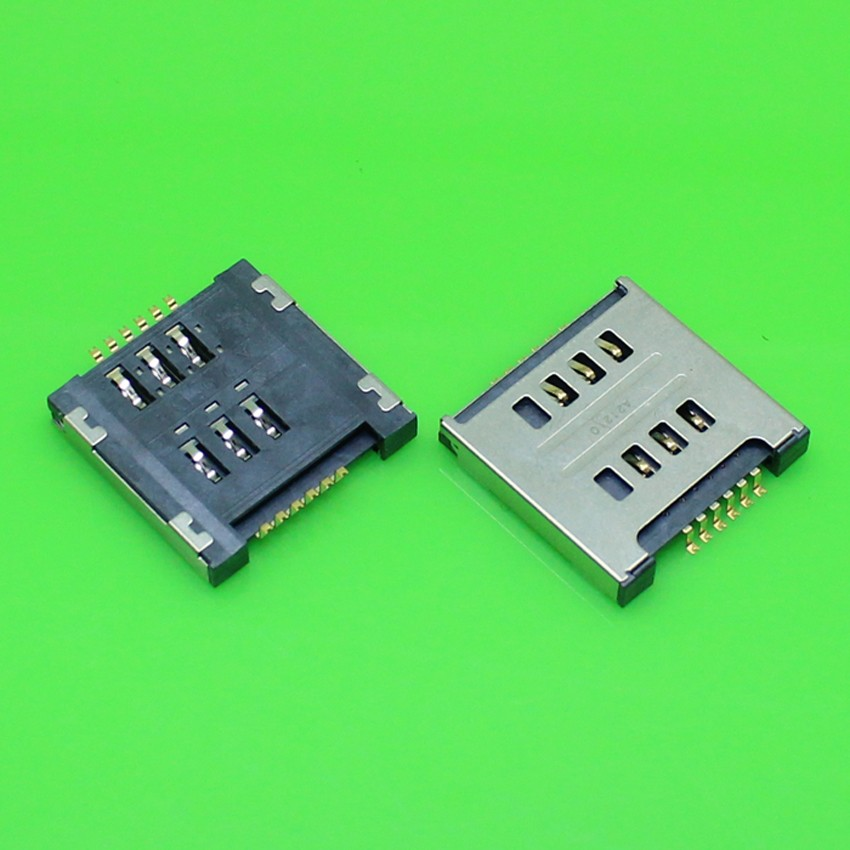 2pcs/lot 100% SIM Card Socket Slot Reader Holder Repair Replacement for LG E615 E715 P715 E455 High quality