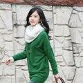 1 pc Mulheres Suave Inverno Quente 2 Infinito Círculo Cabo Cowl Knit Long Neck Scarf Shawl acessórios de vestuário