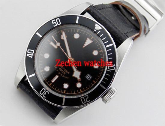 Corgeut 41mm 21 Jewel Sapphire glass Black dial Miyota Automatic Mechanical Men Wrist Watch цена и фото