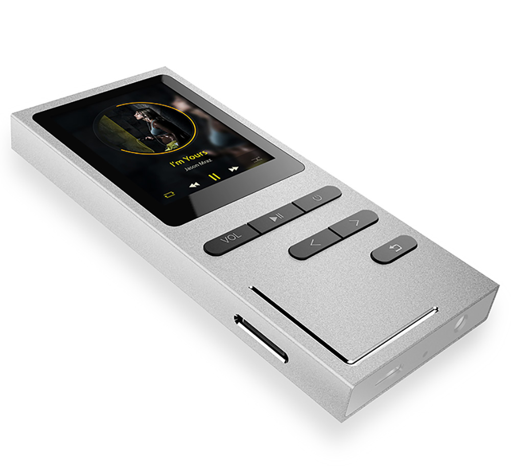 AUPHIL K9 New Metal MP3 Player With Built-in Speaker Portable 1.8 Inch FM Radio E-book 8G Memory Storage Music Lossless Player