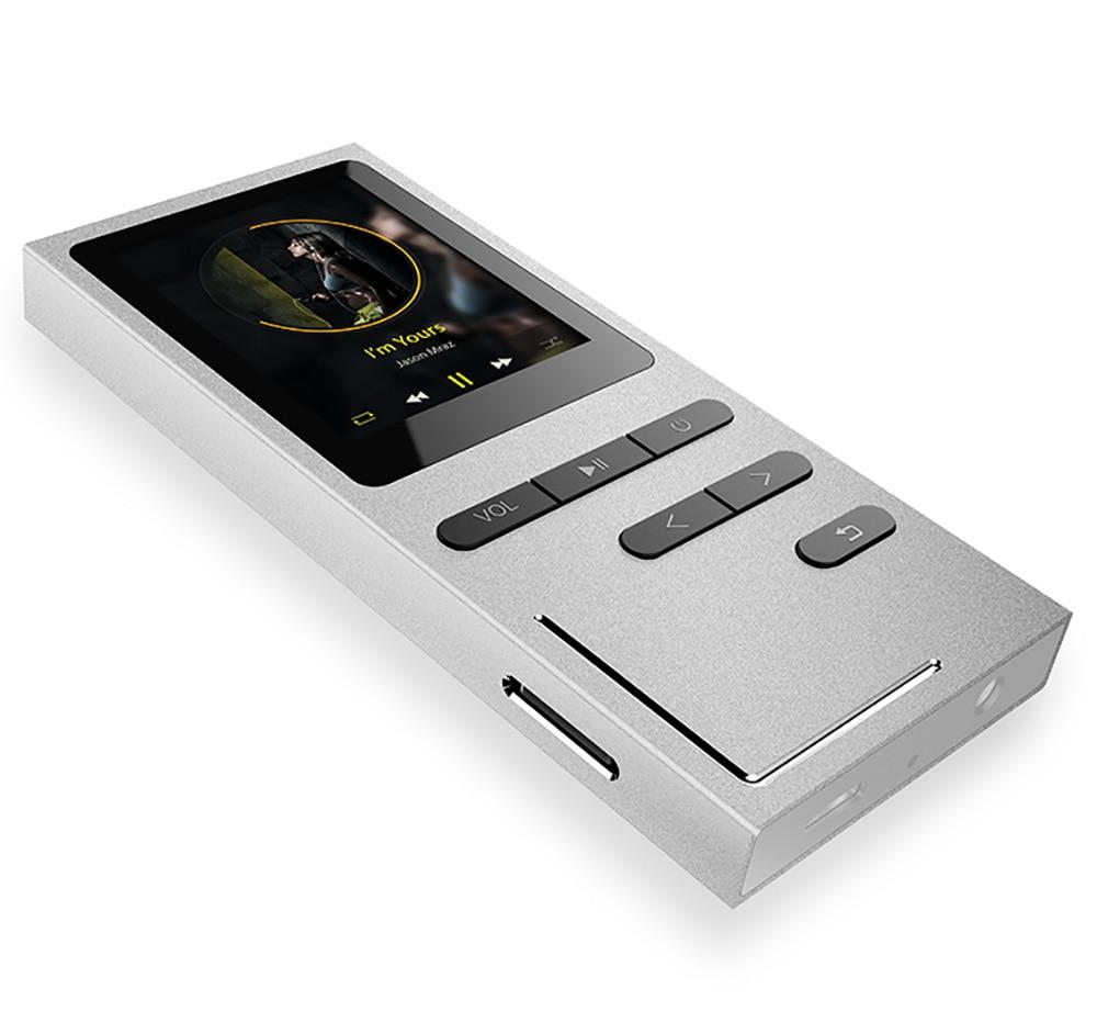 AUPHIL K9 Neuer Metall-MP3-Player mit eingebautem Lautsprecher - Tragbares Audio und Video