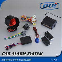 2015 Hot Sale!!!One way Car Alarm remote cover,car central door lock system with power off memory and central doo lock automati