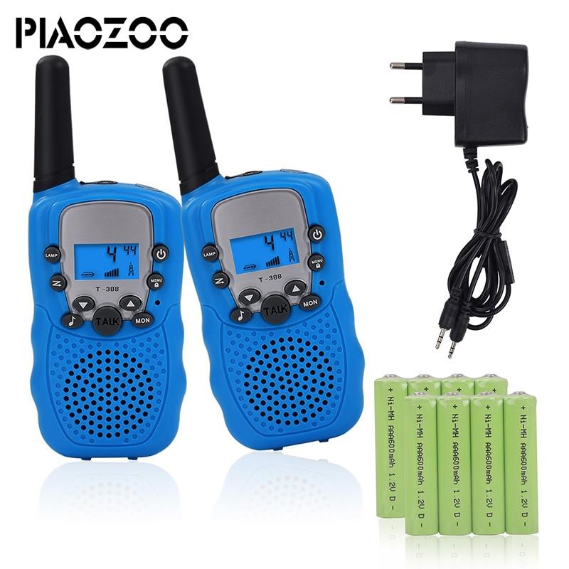 Los niños teléfono Walkie Talkie juguetes aparatos electrónicos de la batería operado de radios inalámbrica walkie talkie interfono juguete 2pcsP20