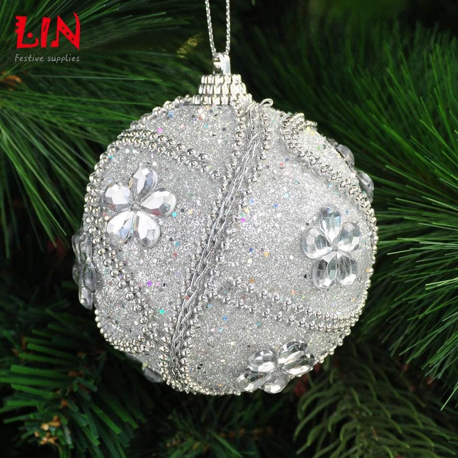 Christmas tree ornaments 8cm foam adhesive decorative for Adhesive decoration