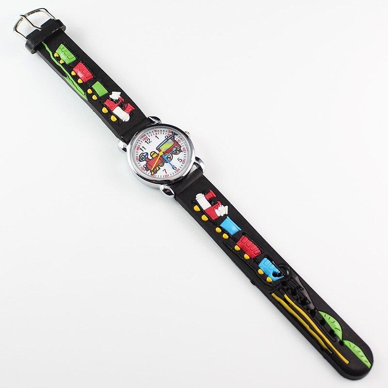 New 2018 Fashion Kids Watch 3D Wrist Watch Funny Cartoon Party Quartz Watches Children Love Nice Black
