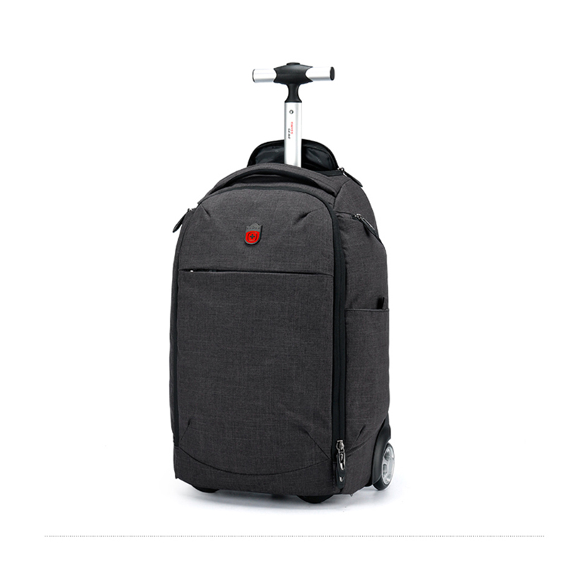 Letrend Men Business Light Travel Duffle Oxford Backpack Rolling Luggage Casters Trolley Carry On Suitcase Wheels School Bag universal uheels trolley travel suitcase double shoulder backpack bag with rolling multilayer school bag commercial luggage