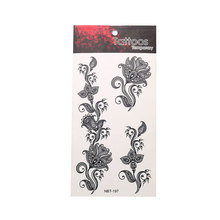 Art Flower Waterproof Tattoo Sticker Fashion Body Exquisite Temporary Unisex Beautiful Plant
