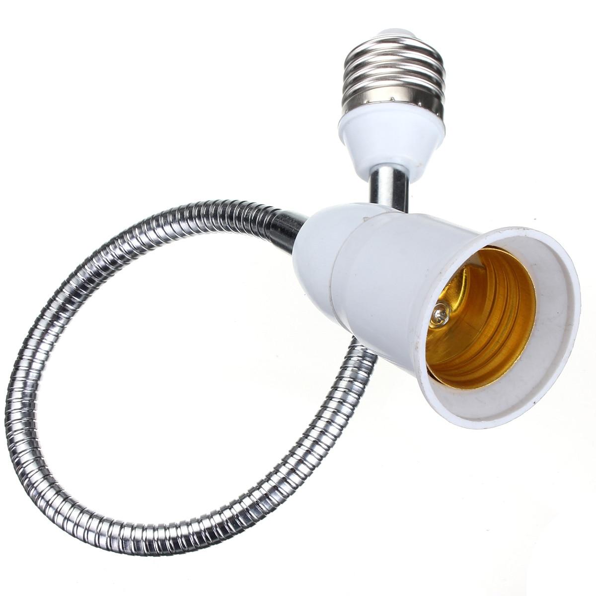 Beautiful Design E27 To E27 40CM Length Flexible Extend Extension LED Light Bulb Lamp Base Holder Screw Socket Adapter Converter