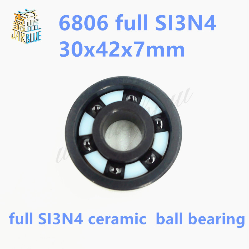 Free shipping 6806 full SI3N4 ceramic deep groove ball bearing 30x42x7mmP5 ABEC5 free shipping 6000 full zro2 ceramic deep groove ball bearing 10x26x8mm p5 abec5