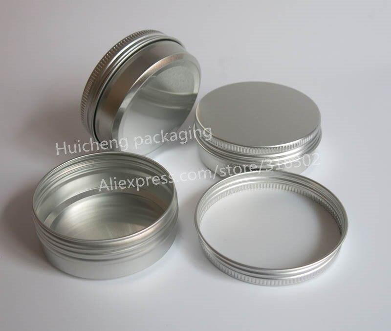100 x Empty 60g aluminum jar metal jar for cream powder gel use 2 oz cosmetic