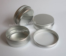 100 x Empty 60g aluminum jar  metal jar for cream powder gel use 2 oz cosmetic bottles, 60ml aluminum container