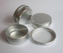 100 x Leere 60g aluminium jar metall jar für creme pulver gel verwenden 2 unzen kosmetische flaschen, 60ml aluminium behälter