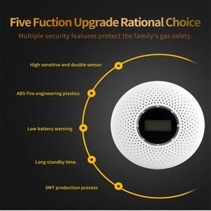Image 2 - 2 in 1 LED Digital Gas Smoke Sensor Alarm Co Carbon Monoxide Detector Voice Warn Sensor Home Security Protection High Sensitive