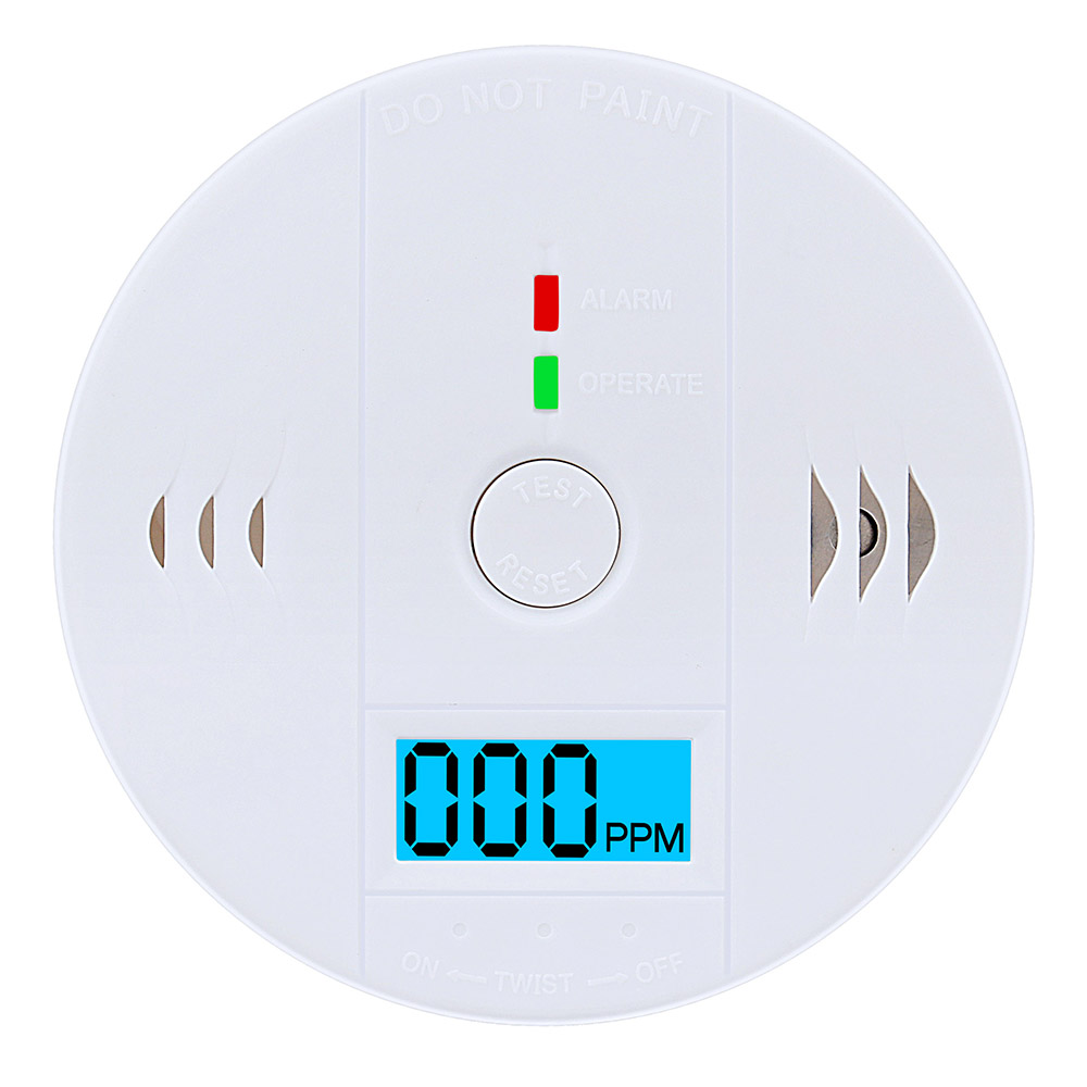 Carbon Monoxide Detector LCD Display CO Monitor Home Security Smoke Alarm LCD Photoelectric Independent  Warning High Sensitive