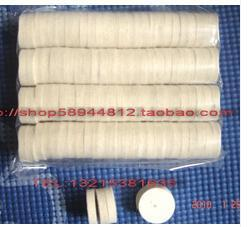 100 Pieces Dental Lab Felt Cotton Polishing Wheel White Color Polishing Materials Two Styles Hard And Soft