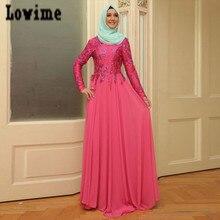Vestidos Longo mit Appliques Perlen Muslimischen Kleider Partyabend Hijab Langen Kleid Chiffon Kaftan Dubai Türkei Robe Soiree