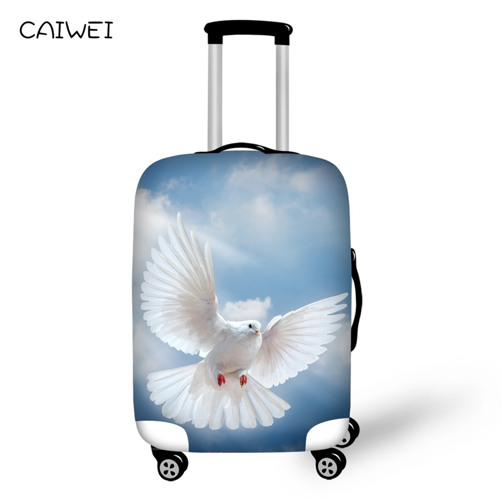 Cover For Suitcase White Dove 3D Prints luggage Protective Covers Elastic Travel Accessories Trolley Case Cover For 18-30 Inch