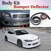 Bumper Lip Deflector Lips For Nissan Silvia S13 S14 S15 200SX 240SX Front Spoiler Skirt For TopGear Tuning / Body Kit Strip