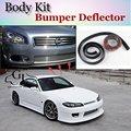Deflector de Labios Lip Bumper Para Nissan Silvia S13 S14 S15 200SX 240SX Spoiler Delantero Falda Para TopGear Tuning/Kit de Carrocería Tira