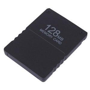 Image 1 - Tarjeta de memoria de 128MB, 64MB, 32MB y 16M, módulo de almacenamiento de datos de juego para Sony PS2, Playstation 2, protector de proceso de tarjeta extendida de 128m