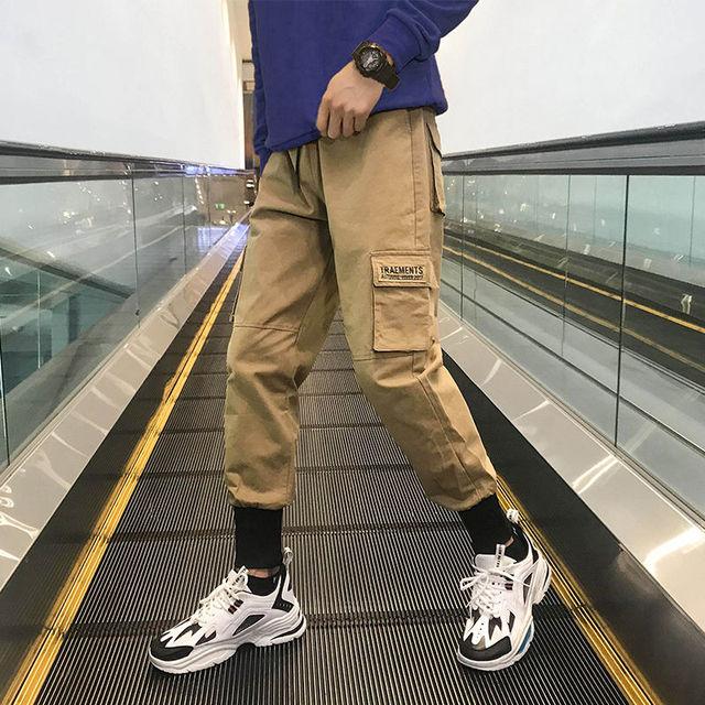 Men's Side Pockets Cargo Harem Pants 2020 Hip Hop Casual Male Tatical Joggers Trousers Fashion Casual Streetwear Pants 23