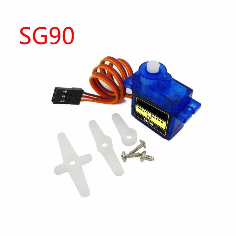 100 pièces SG90 9g Mini Micro Servo pour RC pour RC 250 450 hélicoptère avion voiture