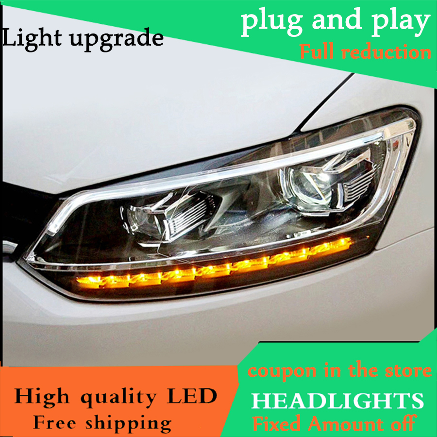 Car Styling Head Lamp For VW Polo headlight Volkswagen Polo 2013 2014 2015 2016 2017 LED