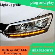 Автомобильный Стайлинг Головной фонарь для VW Polo фара Volkswagen Polo 2013 светодиодный движущийся сигнал поворота Биксеноновые линзы