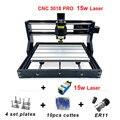 Cnc3018 pro лазерный гравер 15 Вт GRBL ER11 PCB Diy Мини Дерево ЧПУ лазерный гравировальный станок для России