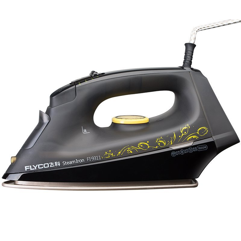 adjustable temperature electric iron with Teflon baseboard Strong steam Steam/dry ironing Support vertical hanging electric iron ladomir 64k