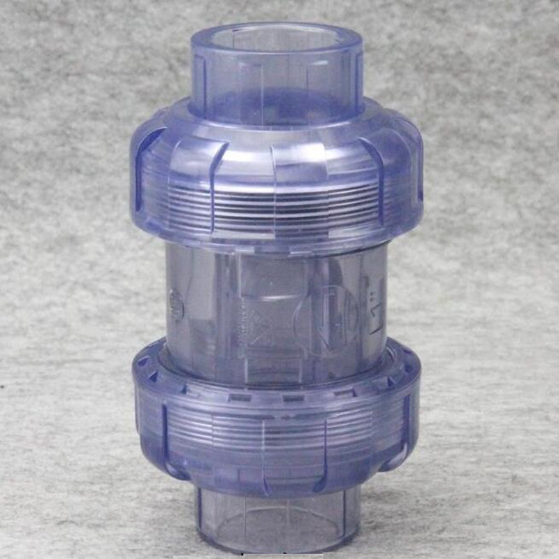 1pcs Socket Type Inner Diameter 20mm To 63mm Double Union New Check Valve High Technology Made Plastic Transparent Check Valve 1pcs Socket Type Inner Diameter 20mm To 63mm Double Union New Check Valve High Technology Made Plastic Transparent Check Valve