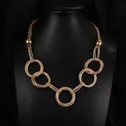 Emmaya na moda feminina declaração pingente colares 7 círculos moda jóias tendências para presente festa de casamento jóias