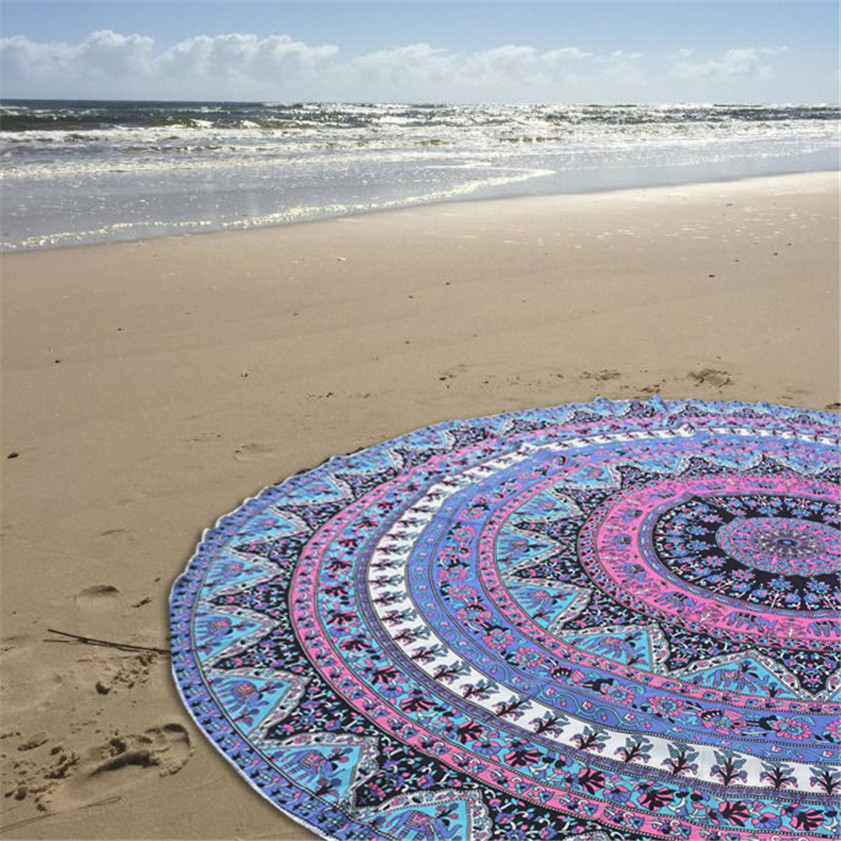 drop shipping Table cover Home Deco table cloth High Quality Round Beach Pool Home Shower Towel Blanket Table Cloth Yoga Ma